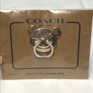 NWT Coach bear phone ring